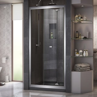 DreamLine Butterfly 34 to 35.5-inch Frameless Bi-Fold Shower Door