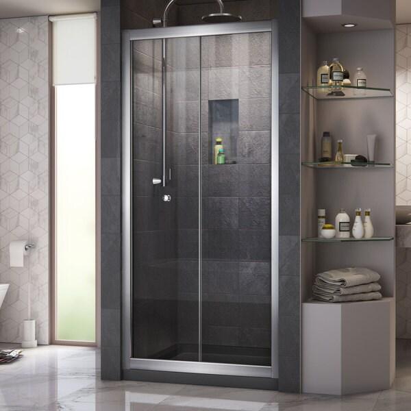 DreamLine Butterfly 34 to 35 1/2 in. Frameless Bi-Fold Shower Door