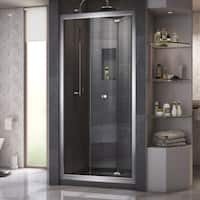 DreamLine Butterfly 34 to 35 1/2 in. Frameless Bi-Fold Shower Door