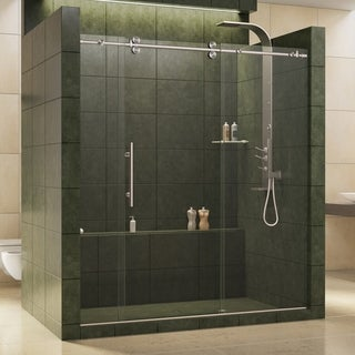 DreamLine Enigma 68 to 72 in. Fully Frameless Sliding Shower Door