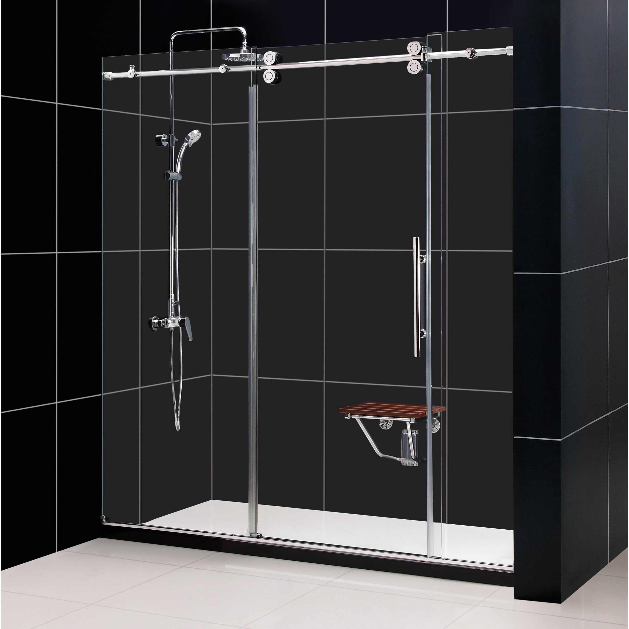 Dreamline Enigma 68 To 72 Inch Fully Frameless Sliding Shower Door