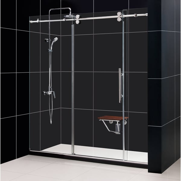 DreamLine Enigma 68 to 72-inch Fully Frameless Sliding Shower Door