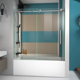DreamLine Enigma-X 56 to 59 in. Frameless Sliding Tub Door