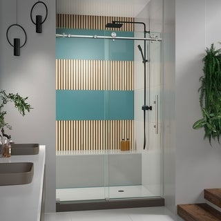DreamLine Enigma-X 44 to 48 in. Fully Frameless Sliding Shower Door