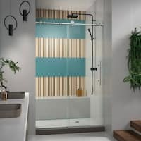 DreamLine Enigma-X 44-48 in. W x 76 in. H Fully Frameless Sliding Shower Door