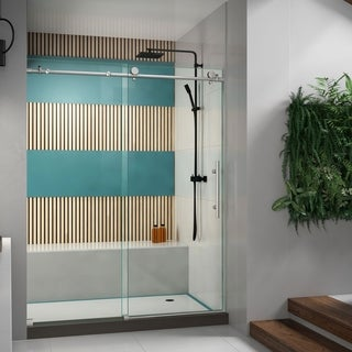 DreamLine Enigma-X 56 to 60 in. Fully Frameless Sliding Shower Door