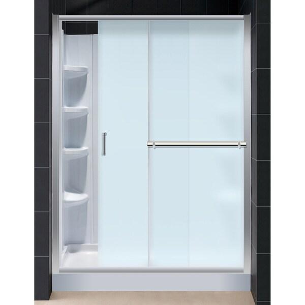Infinity Plus Shower Door with Amazon 30x60-inch Shower Base