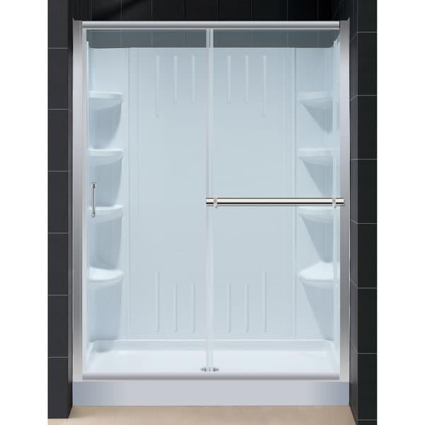 Infinity Plus Shower Door with Amazon 36x60-inch Shower Base