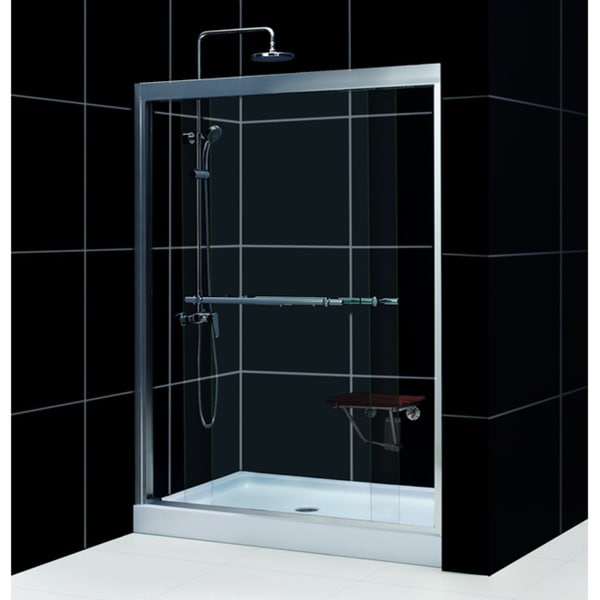 Duet Shower Door with Amazon 32x60-inch Base Tub To Shower Kit
