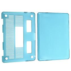 INSTEN Clear Light Blue Snap-on Laptop Case Cover for Apple MacBook Pro 13-inch - Thumbnail 1