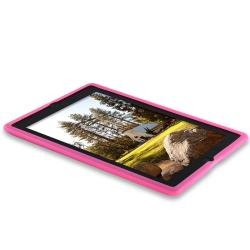 INSTEN Hot Pink Soft Silicone Skin Tablet Case Cover for Apple iPad 2 - Thumbnail 2