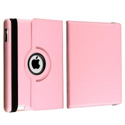 BasAcc Pink 360-degree Swivel Leather Case for Apple iPad 2 - Thumbnail 1