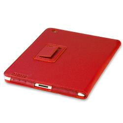 BasAcc Red Leather Case with Stand for Apple iPad 2 - Thumbnail 1