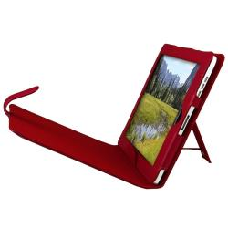 INSTEN Red Leather Tablet Case Cover with Stand for Apple iPad 1 - Thumbnail 1