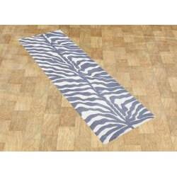 Alliyah Rugs Handmade Grey New Zealand Blend Wool Area Rug (2'6 x 8') - Thumbnail 1