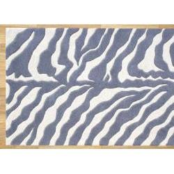 Alliyah Rugs Handmade Grey New Zealand Blend Wool Area Rug (2'6 x 8') - Thumbnail 2