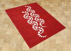 Handmade Sabrina Red Wool Rug (8' x 10')