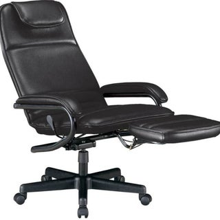 OFM Model 680 Ergonomic High-Back Executive Reclining Office Chair with Footrest, Anti-Microbial/Anti-Bacterial Vinyl