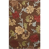 "Nourison Hand-tufted Sunburst Brown Rug - 5'3"" x 7'5"""