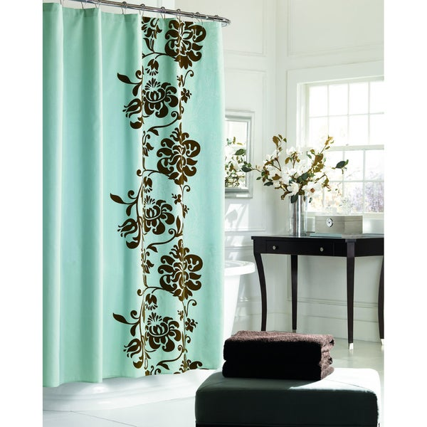 Manor Hill Polonaise Aqua Curtain