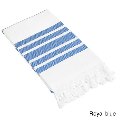 Authentic Pestemal Fouta Bold Stripe Turkish Cotton Bath/ Beach Towel