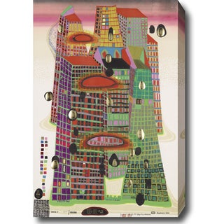 'The City' Abstract Oil on Canvas Wall Art