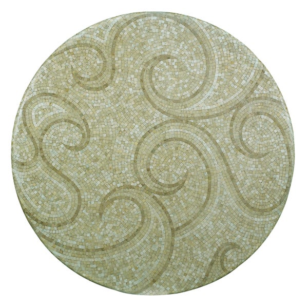 Outdoor Waves 24 Inch Round Mosaic Table Top Free