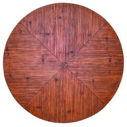 Outdoor Faux Crushed Bamboo 48-inch Round Table Top
