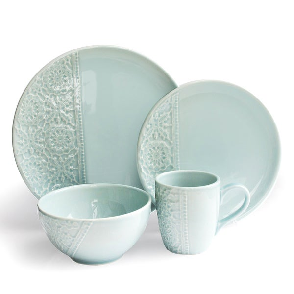 American Atelier Blue Crochet Dining Set