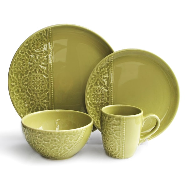 American Atelier Green Crochet Dining Set