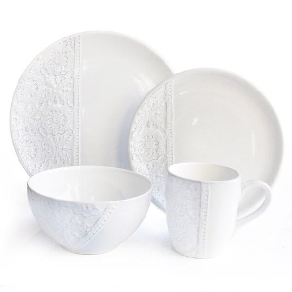 American Atelier White16 Piece Dinner Set