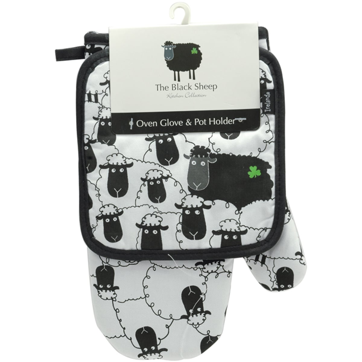 The Black Sheep Oven Glove and Pot Holder Set