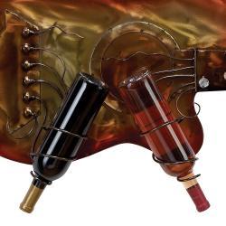 Kingston Wall Mounted Metal Guitar 2- Bottles Wine Rack and Wine Glass Holder - Thumbnail 2