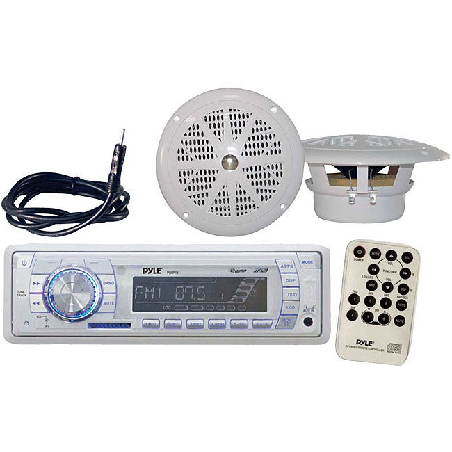 Pyle Marine AM/FM MPX Radio SD/USB Player and Dual Cone S...