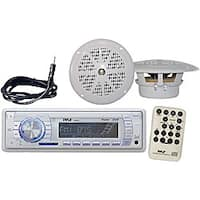 Pyle Marine AM/FM MPX Radio SD/USB Player and Dual Cone Speakers Set
