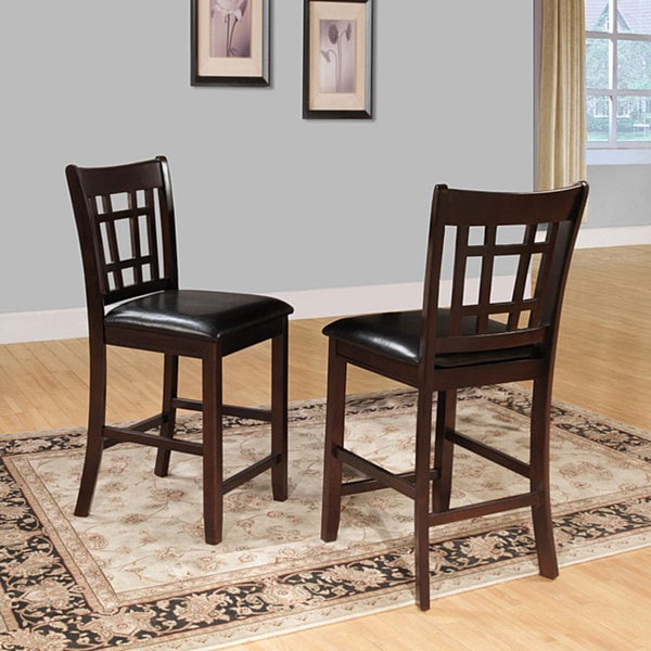 Shop Tribecca Home Watson 24 Inch Counter Height Chair: Shop Banbury Dark Cherry Mission 24-inch High Back Counter