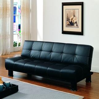 Bento Black Faux Leather Elegant Lounger