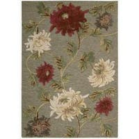 "Nourison Hand-tufted Sunburst Green Rug - 2'6"" x 4'"