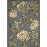 "Nourison Hand-tufted Sunburst Blue Rug - 2'6"" x 4'"