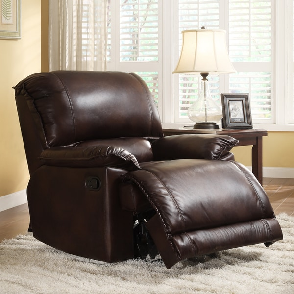 Dursley Brown Polished Microfiber Recliner