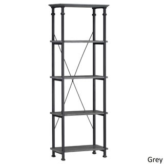 Myra Vintage Industrial Modern Rustic Bookcase by iNSPIRE Q Classic (2 options available)