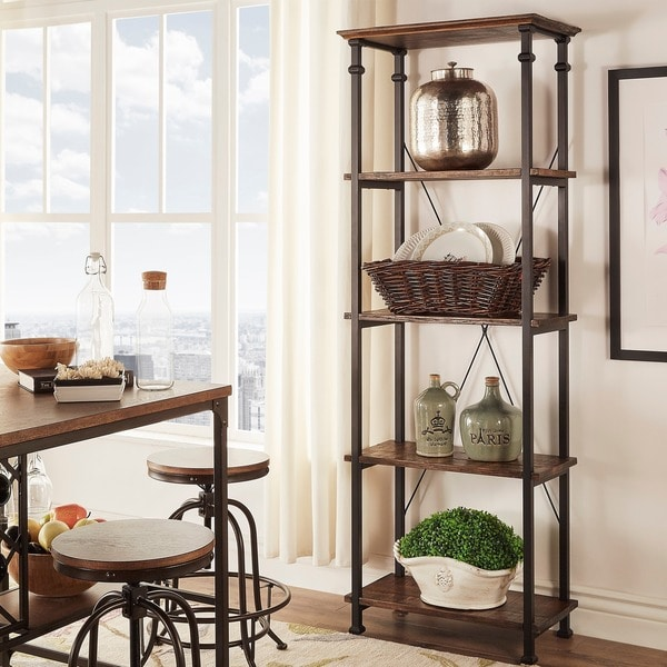 Myra II Vintage Industrial Modern Rustic Bookcase by iNSPIRE Q Classic