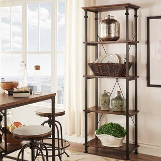 Carbon Loft Menke Vintage Industrial Modern Rustic Bookcase