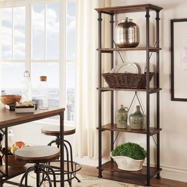 Modern Rustic Bookcase Myra Bistre Brown Vintage