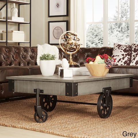 Myra Industrial and Rustic 47-inch Coffee Table by iNSPIRE Q Classic - Coffee Table