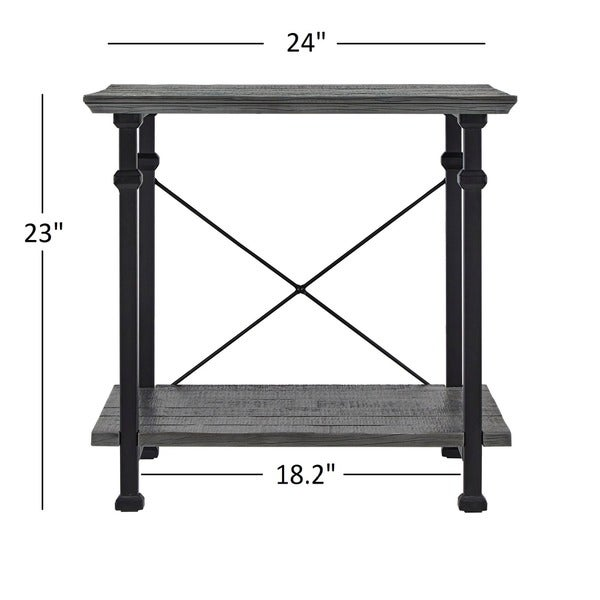 Myra Vintage Industrial Modern Rustic End Table By INSPIRE Q Classic   Free  Shipping Today   Overstock.com   14288172