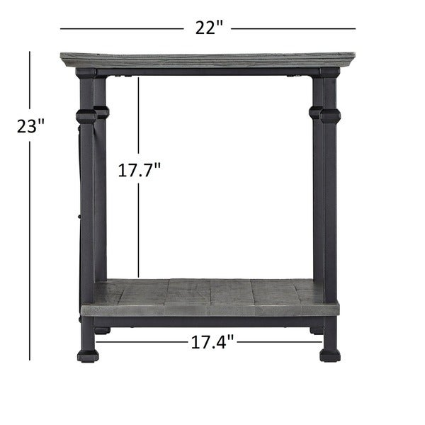 myra vintage industrial modern rustic end table by inspire q classic free shipping today