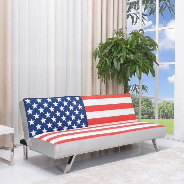 Shop American Flag Futon Sofa Bed Free Shipping Today