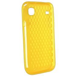 Yellow Diamond TPU Case/ LCD Protector for Samsung Galaxy S i9000 - Thumbnail 1