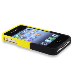 Black/ Yellow Case/ Screen Protector for Apple iPhone 4/ 4S - Thumbnail 2